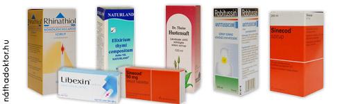 Köhögés csillapító gyógyszerek