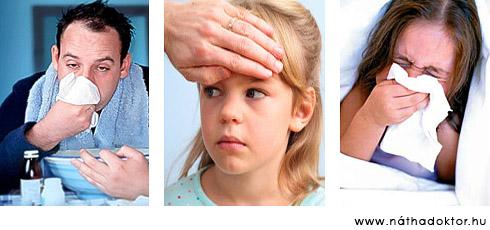 nátha, megfázás, influenza