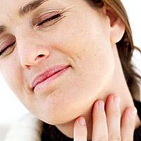influenza, torokfájás