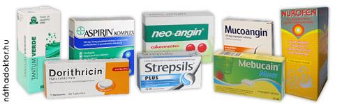 torokfájás gyógyszer